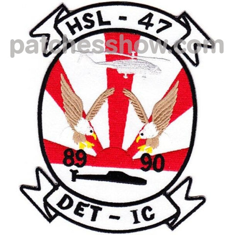 Hsl-47 Helicopter Anti-Submarine Squadron Light Patches Det-Ic 89-90 Military Tactical Patches