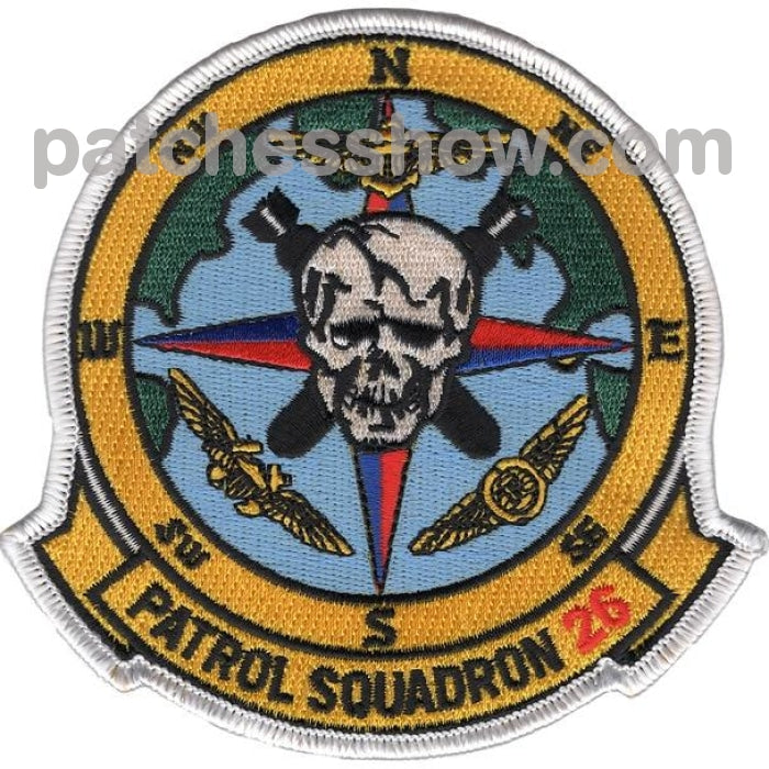 Vp-26 Aviation Patrol Squadron Patch Military Tactical Patches Embroidered Sew On Or Iron On Velcro