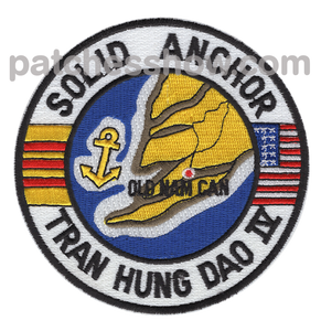 Solid Anchor Advanced Tactical Support Base Patch Tran Hung Dao Iv Military Patches Embroidered Sew