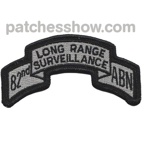 82Nd Lrs Airborne Infantry Division Silver Patch Military Tactical Patches Embroidered Sew On Or