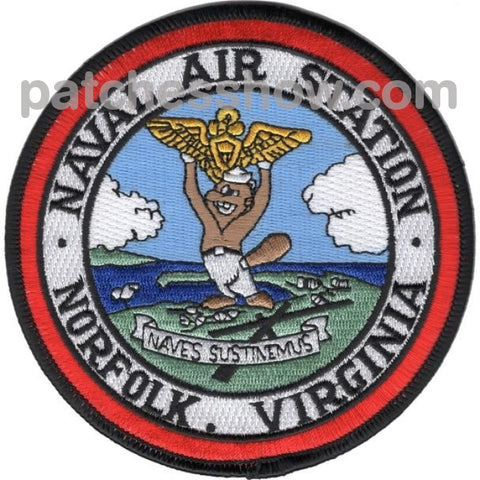 Naval Air Station Norfolk Virginia Patches Military Tactical Patches Embroidered Sew On Or Iron On