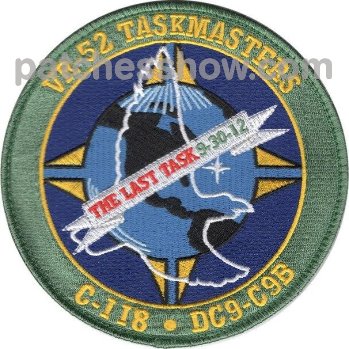 Vr-52 Aviation Fleet Logistics Support Squadron Patch Hook And Loop Military Tactical Patches