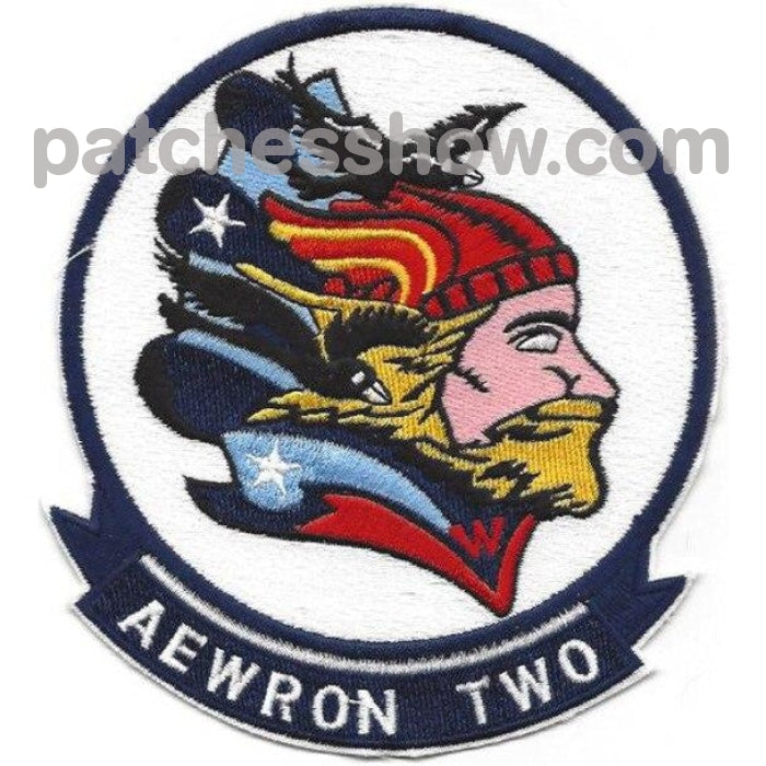 Vw-2 Aviation Airborne Early Warning Squadron Two Patch Military Tactical Patches Embroidered Sew On