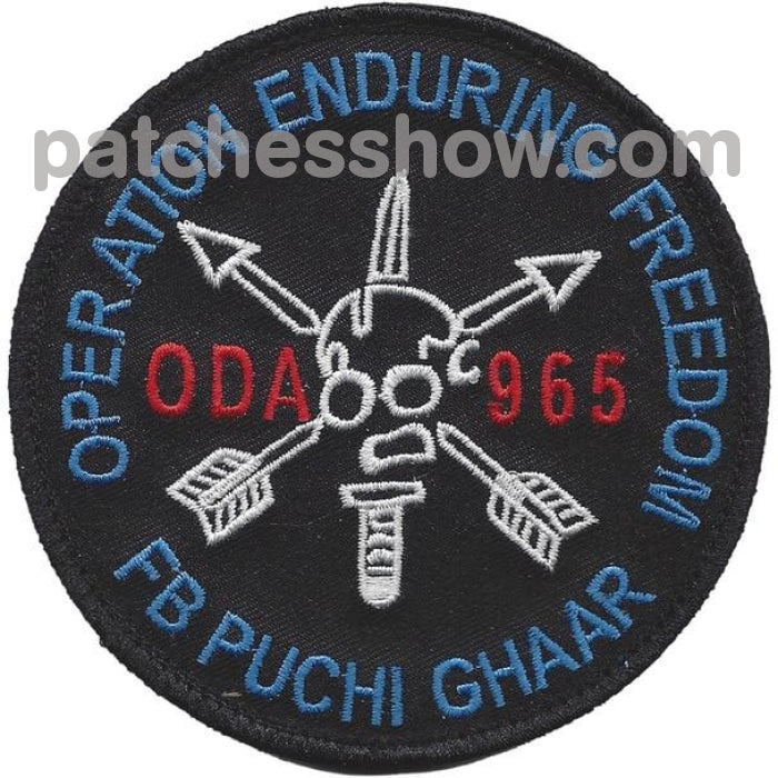 Oda-965 Patch Hook And Loop Military Tactical Patches Embroidered Sew On Or Iron On Velcro Usa