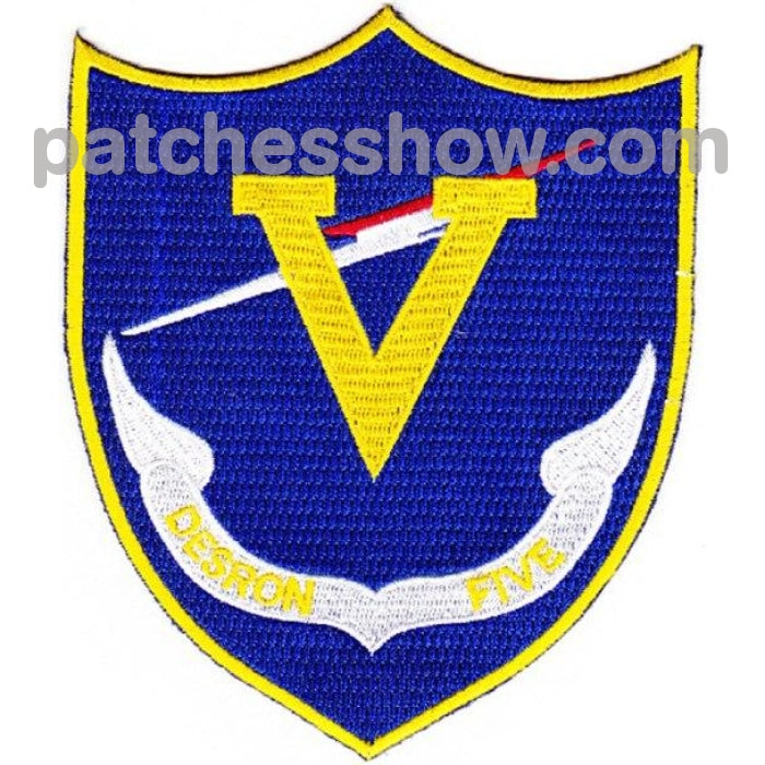 Desron 5 Destroyer Squadron Patch - Version A Military Tactical Patches Embroidered Sew On Or Iron