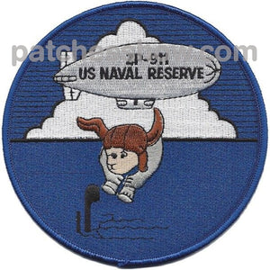 Zp-911 Airship Patrol Reserve Squadron Patch Military Tactical Patches Embroidered Sew On Or Iron On