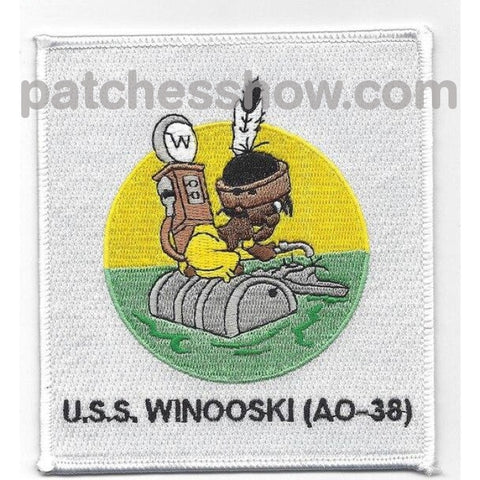 Uss Winooski Ao-38 Fleet Oiler Ship Patches Military Tactical Patches Embroidered Sew On Or Iron On