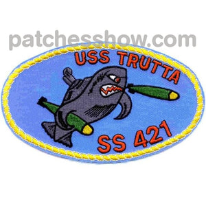 Ss-421 Uss Trutta Patch - Version B Military Tactical Patches Embroidered Sew On Or Iron On Velcro