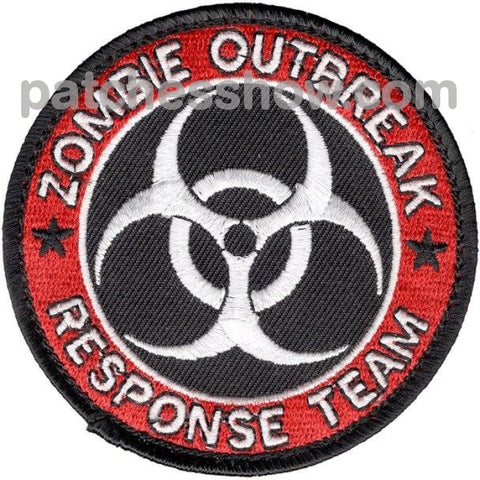Zombie Outbreak Response Team Patch Hook And Loop Military Tactical Patches Embroidered Sew On Or