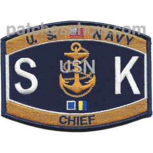 Skc Chief Storekeeper Patch Military Tactical Patches Embroidered Sew On Or Iron On Velcro Usa