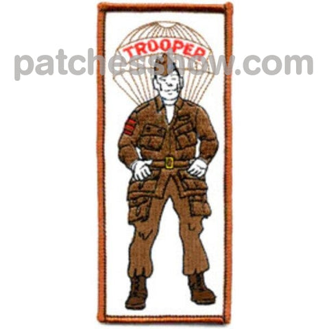 Paratrooper Soldier Patch Military Tactical Patches Embroidered Sew On Or Iron On Velcro Usa
