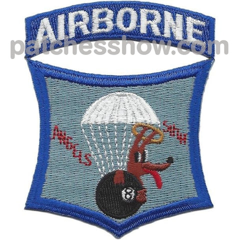 511Th Infantry Airborne Regiment Angels Eight Ball Dog Patches Military Tactical Patches Embroidered