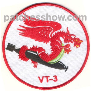 Vt-3 Torpedo Squadron Three Patch Military Tactical Patches Embroidered Sew On Or Iron On Velcro Usa