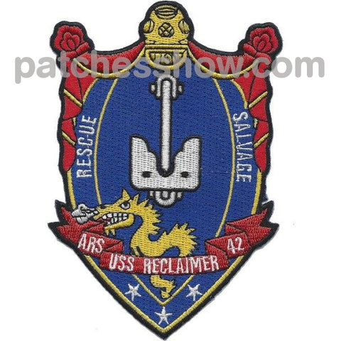 Uss Reclaimer Ars 42 Rescue Salvage Ship Patches Military Tactical Patches Embroidered Sew On Or