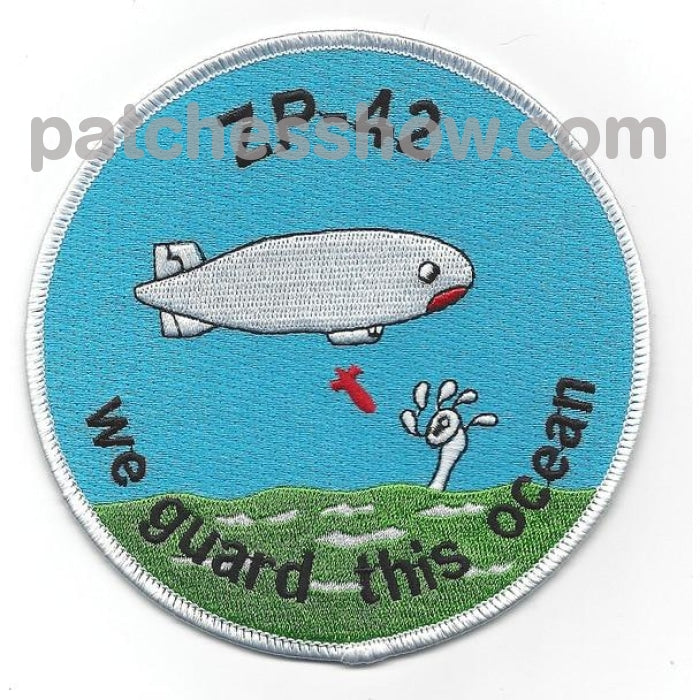 Zp-42 Blimp Squadron Wwii Patch Military Tactical Patches Embroidered Sew On Or Iron On Velcro Usa