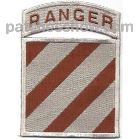 3Rd Infantry Division Patch Ranger Desert Military Tactical Patches Embroidered Sew On Or Iron On