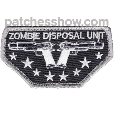 Zombie Disposal Unit Patch Hook And Loop Military Tactical Patches Embroidered Sew On Or Iron On