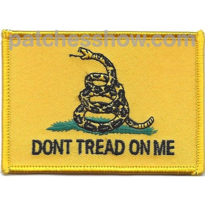 Dont Tread On Me Patches Military Tactical Patches Embroidered Sew Or Iron On Velcro Usa Wholesale