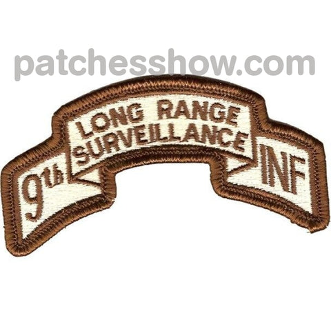 9Th Infantry Division Lrs Scroll Desert Military Tactical Patches Embroidered Sew On Or Iron On