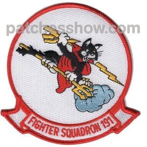 Vf-191 Patch Satans Kittens Military Tactical Patches Embroidered Sew On Or Iron On Velcro Usa