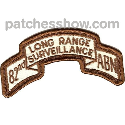 82Nd Lrs Airborne Infantry Desert Patch Military Tactical Patches Embroidered Sew On Or Iron On