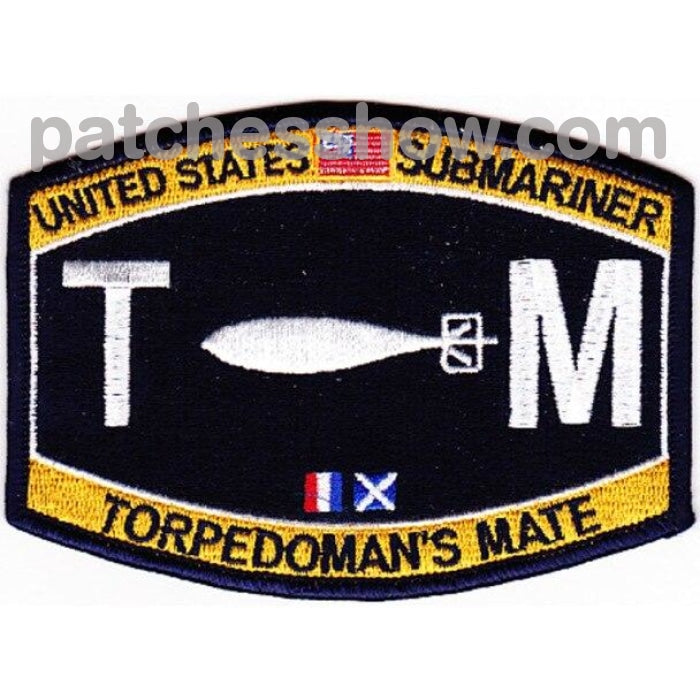 Weapons Specialty Rating Submarine Torpedos Mate Patch Military Tactical Patches Embroidered Sew On