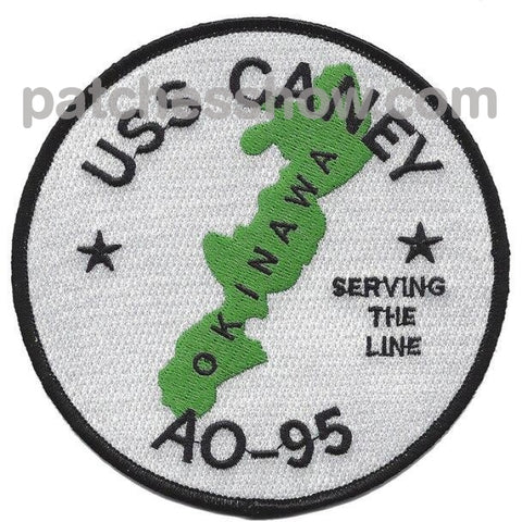 Uss Caney Ao-95 Replenishment Oiler Patches Military Tactical Patches Embroidered Sew On Or Iron On