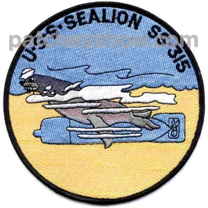 Ss-315 Uss Sealion Patch - Large Military Tactical Patches Embroidered Sew On Or Iron On Velcro Usa