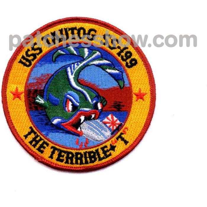 Ss-199 Uss Tautog Patch Military Tactical Patches Embroidered Sew On Or Iron On Velcro Usa Wholesale