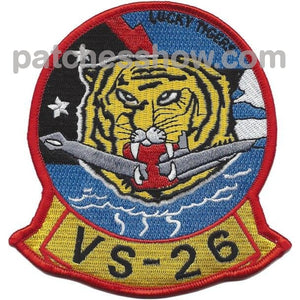 Vs-26 Submarine Patrol Squadron Patch Military Tactical Patches Embroidered Sew On Or Iron On Velcro