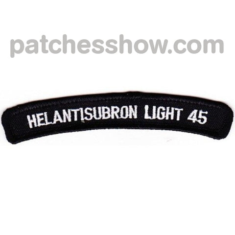 Helantisubron Light 45 Patches Rocker Military Tactical Patches Embroidered Sew On Or Iron On Velcro