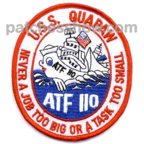 Uss Quapaw Atf-110 Patches - A Version Military Tactical Patches Embroidered Sew On Or Iron On