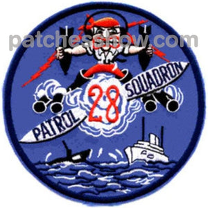 Vp-28 Patrol Squadron Patch Military Tactical Patches Embroidered Sew On Or Iron On Velcro Usa