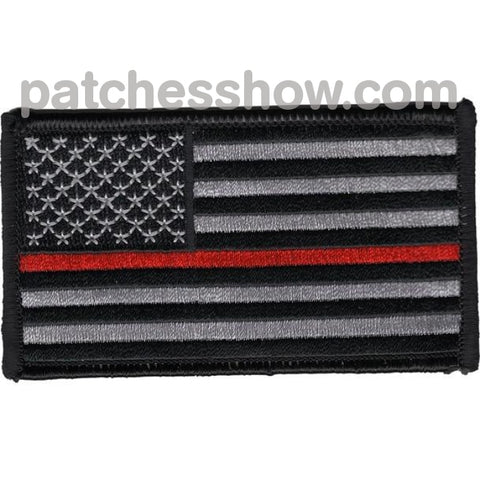 Thin Red Line Firefighter Patches Military Tactical Patches Embroidered Sew On Or Iron On Velcro Usa