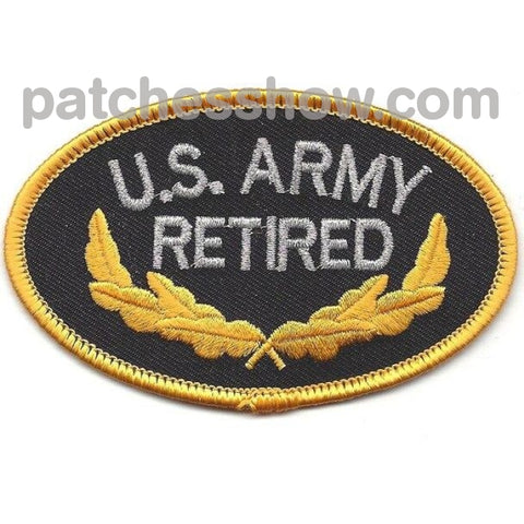 U.s. Army Retired Patch Military Tactical Patches Embroidered Sew On Or Iron On Velcro Usa Wholesale