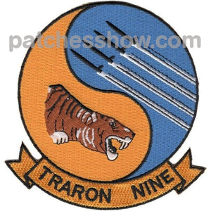 Vt-9 Strike Fighter Training Squadron Nine Patch Military Tactical Patches Embroidered Sew On Or
