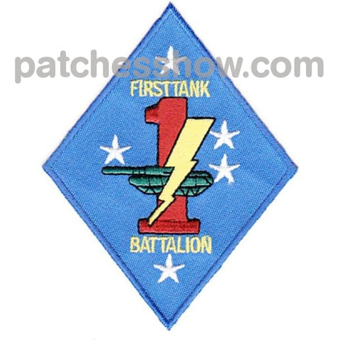 1St Tank Battalion Patches Military Tactical Patches Embroidered Sew On Or Iron On Velcro Usa