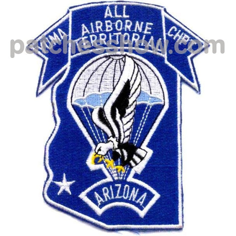 Airborne Yuma Territorial Chapter Patch Military Tactical Patches Embroidered Sew On Or Iron On