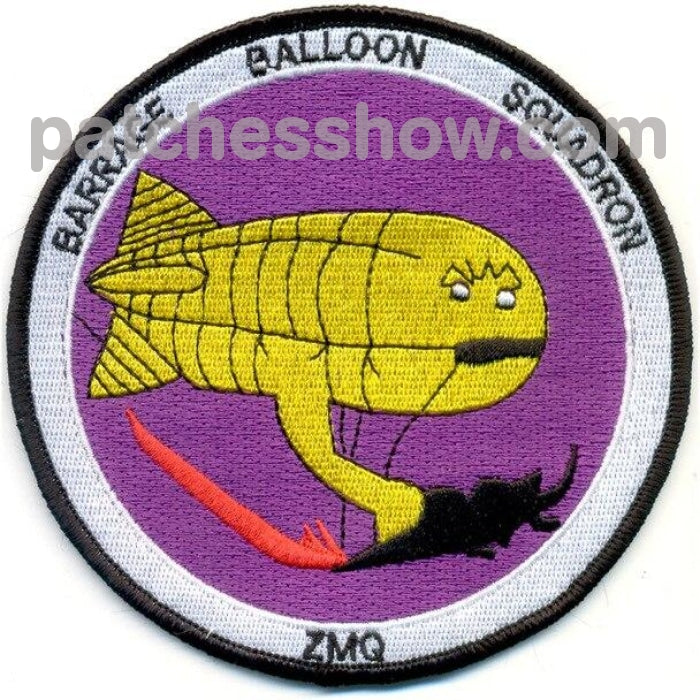 Zmq-1 Aviation Barrage Balloon Squadron One Patch Military Tactical Patches Embroidered Sew On Or