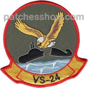 Vs-24 Aviation Air Sea Control Squadron Twenty Four Patch Military Tactical Patches Embroidered Sew
