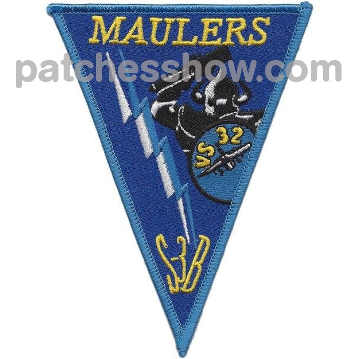 Vs-32 Patch Maulers S-3B Military Tactical Patches Embroidered Sew On Or Iron On Velcro Usa