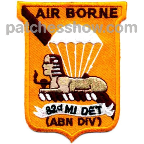 82Nd Airborne Division Military Intelligence Detachment Patch Tactical Patches Embroidered Sew On Or