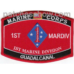 1St Marine Division Guadalcanal Mos Patch Military Tactical Patches Embroidered Sew On Or Iron On