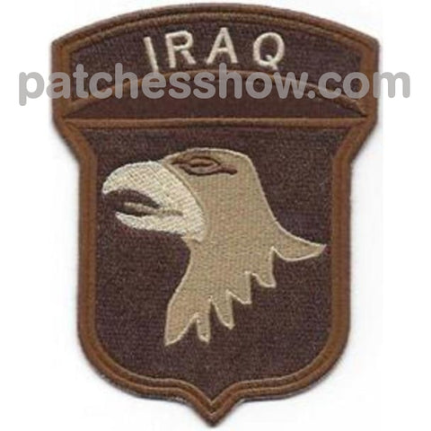 101St Airborne Division Patch Screaming Eagles Iraq Desert Military Tactical Patches Embroidered Sew
