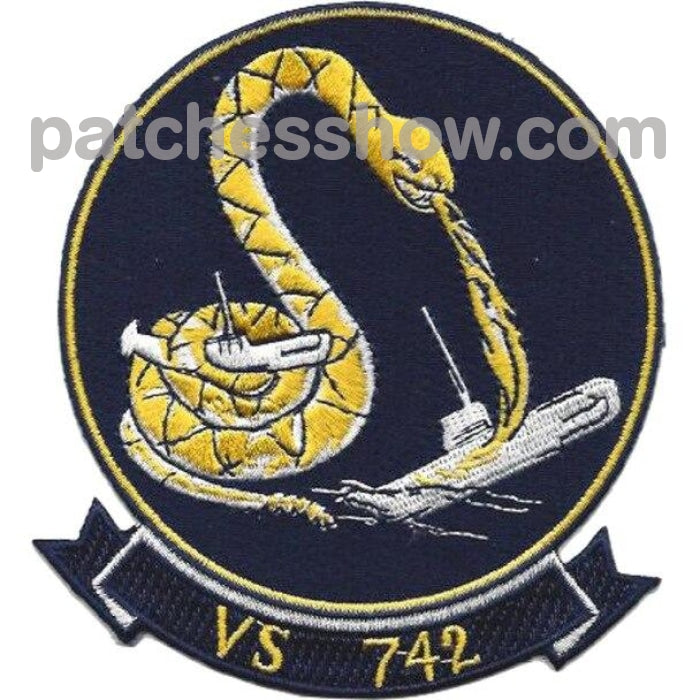 Vs-742 Aviation Air Sea Control Squadron Thirty Two Patch Military Tactical Patches Embroidered Sew