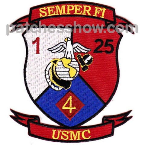 1St Battalion 25Th Marines 4Th Division Patches Military Tactical Patches Embroidered Sew On Or Iron