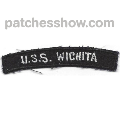 Uss Wichita Aor-1 Military Tactical Patches Embroidered Sew On Or Iron On Velcro Usa Wholesale