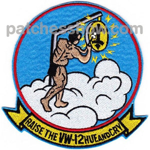 Vw-12 Patch Raise The Hue And Cry Military Tactical Patches Embroidered Sew On Or Iron On Velcro Usa