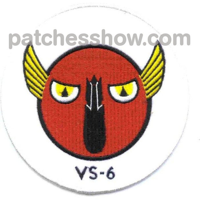 Vs-6 Aviation Air Scouting Squadron Patch Military Tactical Patches Embroidered Sew On Or Iron On