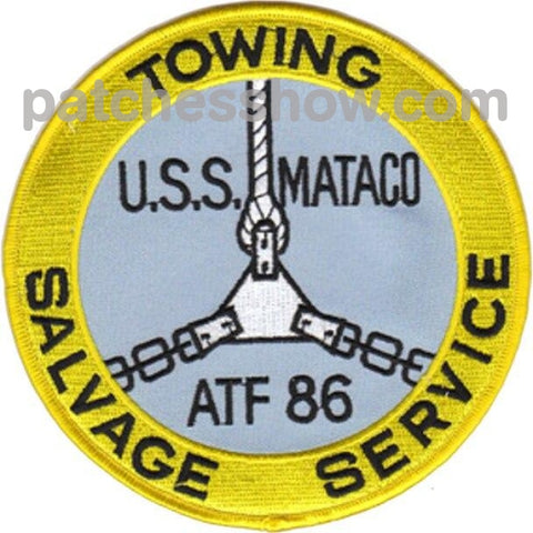 Uss Mataco Atf-86 Patches Military Tactical Patches Embroidered Sew On Or Iron On Velcro Usa